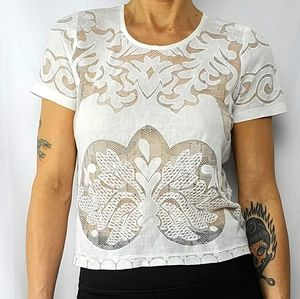 Acemi Lace Top Size Small White